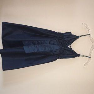 NWT Max Studio XS Navy Silk Dress